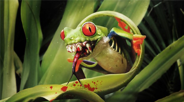Зубастая лягушка